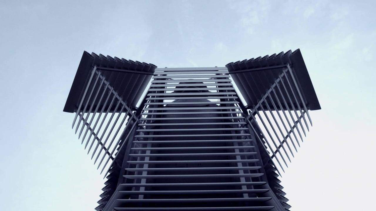 La torre aspira smog